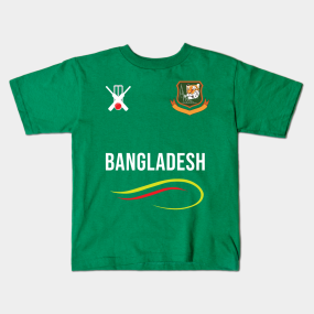 ad164c5f3 Bangladesh Cricket Team T-Shirt Fans Jersey Kids T-Shirt