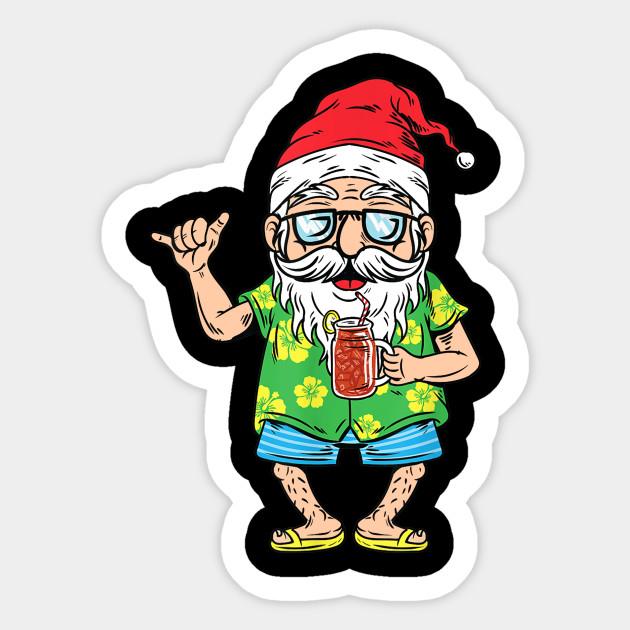 Christmas In July Santa Clipart.Christmas In July 2019 Santa Hawaiian Beach Summer