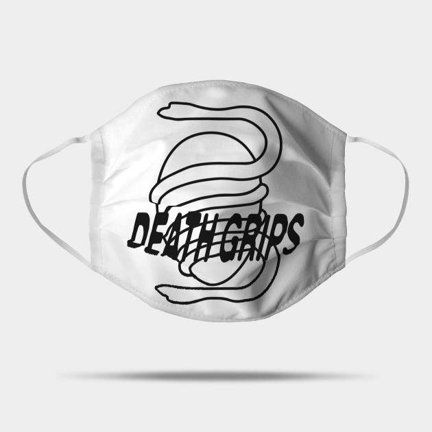 Death Grips Snake Egg Logo Minimalistic with Band Name