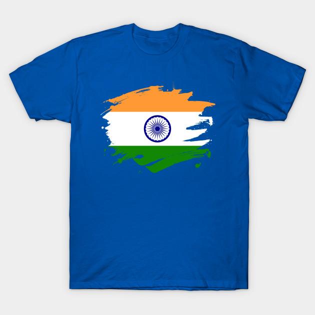 05703b9bd India Paint Splatter Flag - Indian Pride Design - India - T-Shirt ...