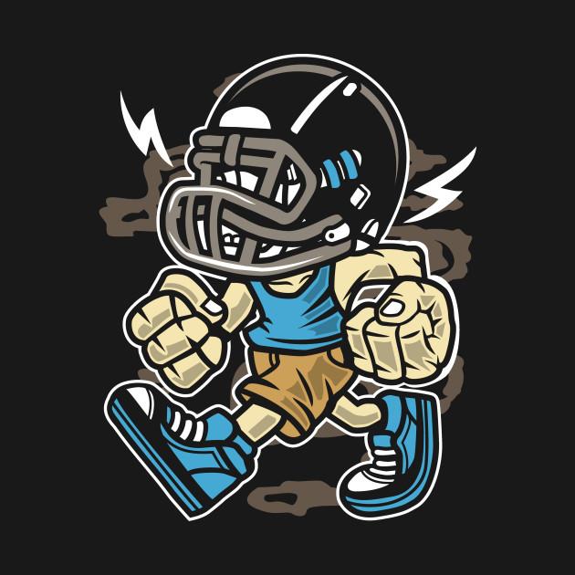 Angry football player