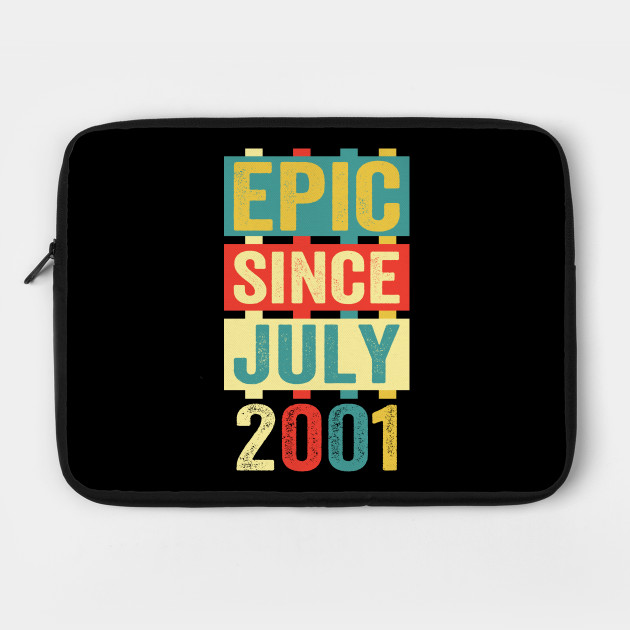 Epic Since July 2001 T-Shirt- 18 Years Old Shirt Gift by lxbach