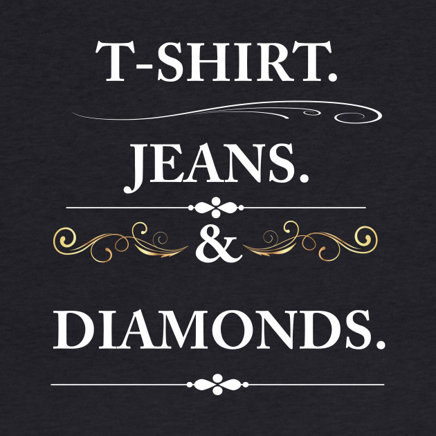 Women's T-shirt Jeans and Diamonds Vintage Graphic T-shirt