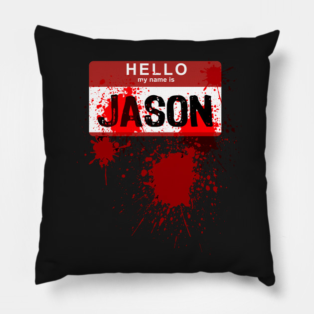 Halloween Costume Jason Friday 13th.Hello My Name Is Jason Funny Halloween Killer Costume