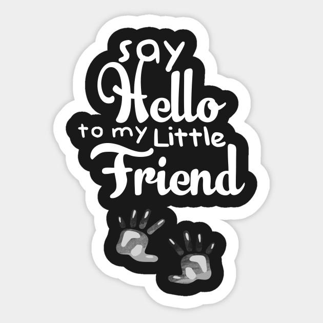 Funny Pregnancy Quote Say Hello To My Little Friend T Shirt Baby