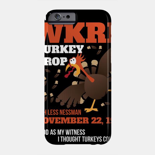 WKRP Thanksgiving Turkey Drop Thanksgiving Turkey Dinner Gift Phone Case