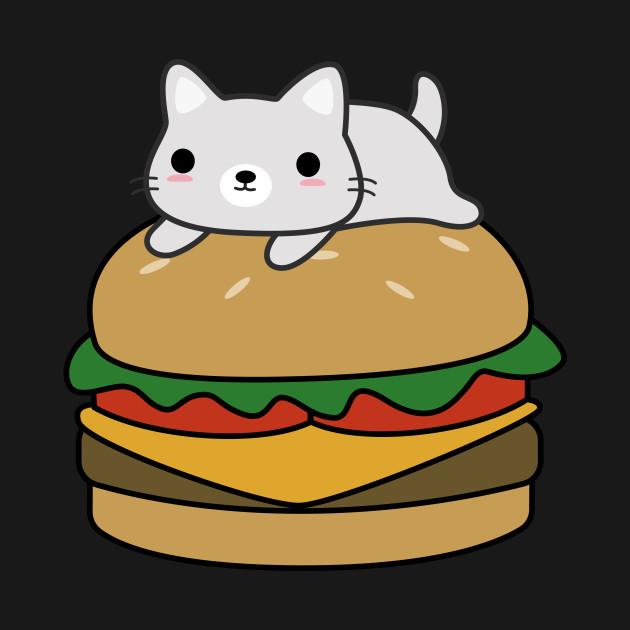 Cute Hamburger Cat T-Shirt