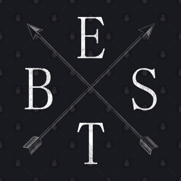 Minimalist Word Best With Arrows And Pointers Design