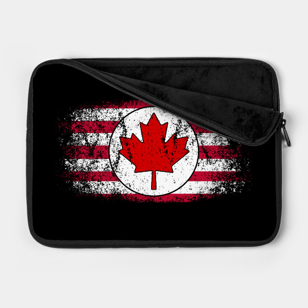 American / Canadian Flag - Vintage Distressed