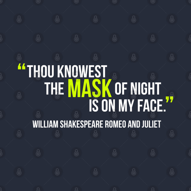 Shakespeare Quotes Mask