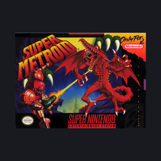 Super Metroid Cartridge Art