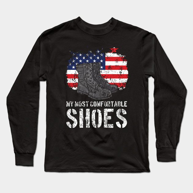 33a6cf30 Funny Military Meme Matching Patriotic Quote Gift Idea Long Sleeve T-Shirt