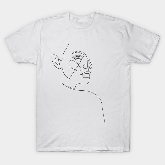 a6a195aa lost - single line art - Minimalist - T-Shirt | TeePublic