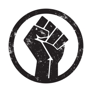 BLACK POWER FIST T SHIRT