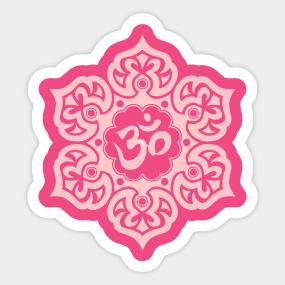 Lotus flower om stickers teepublic mightylinksfo