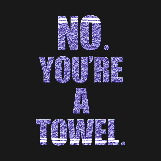 NO YOU'RE A TOWEL.