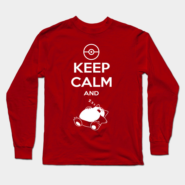 6a4fa71d Keep Calm and...zzz - Pokemon - Long Sleeve T-Shirt | TeePublic
