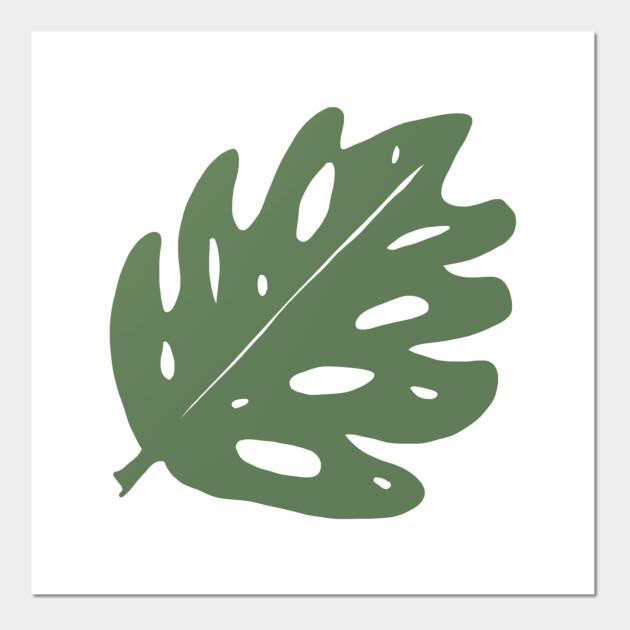 Huge Grey Green Tropical Monstera Leaf Monstera Posters And Art Prints Teepublic Uk Handpainted monstera leaves illustration | frunze monstera pictate manual. teepublic