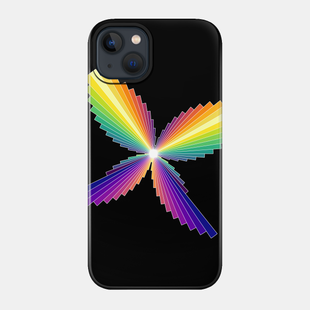 Rainbow Butterfly   Flying Wings Bar Charts Black