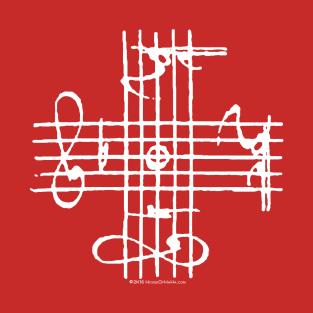 Johann Sebastian Bach Musical Signature Notation Cross t-shirts