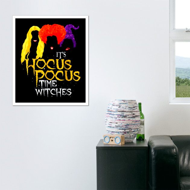 It\'s Hocus Pocus Time Witches Funny Halloween Witch T Shirt - Its ...