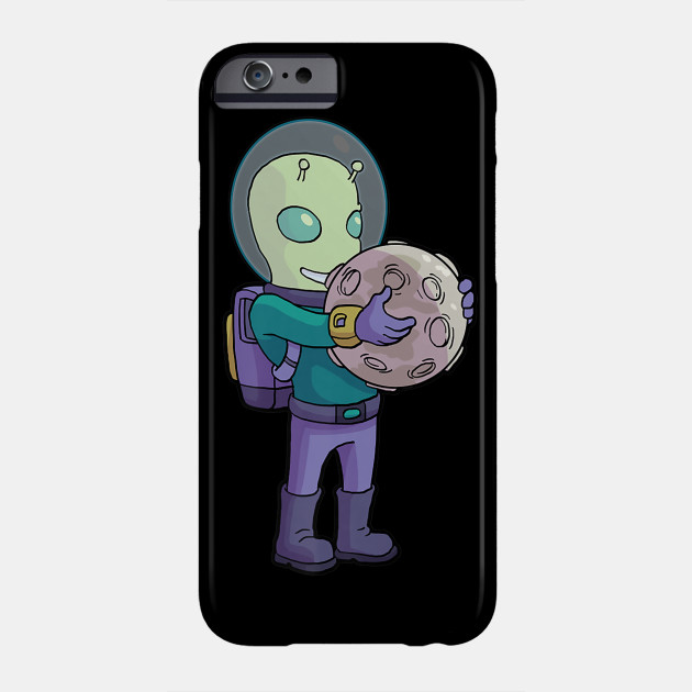 Ancient Alien Astronaut Ufo Theorist Space Moon Landing Phone Case