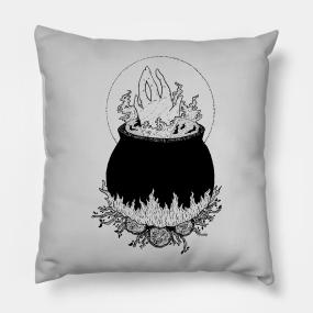 Cauldron Pillows   TeePublic