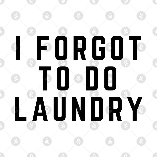 I Forgot To Do Laundry
