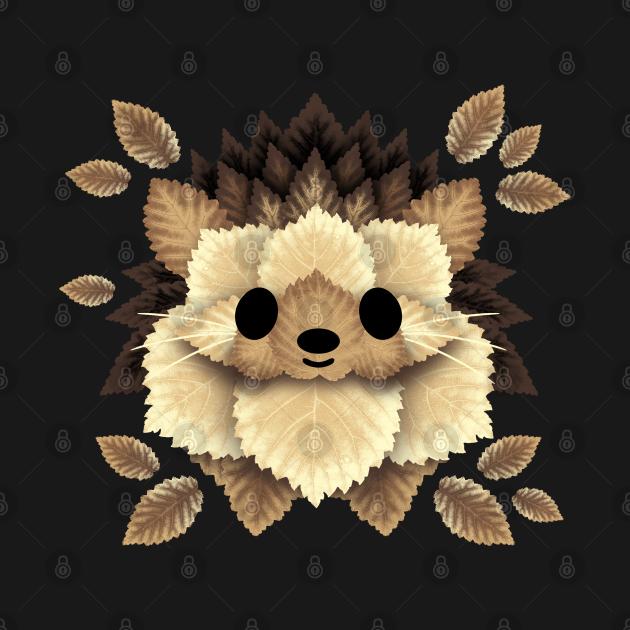 hedgehog of leaves