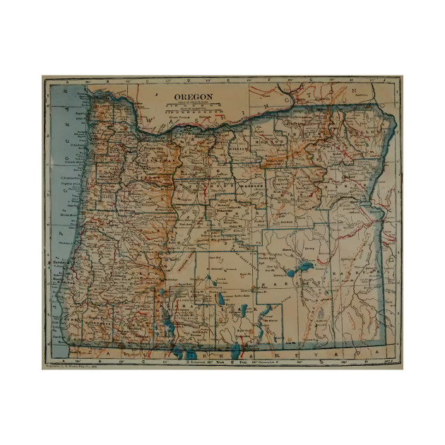 Vintage Oregon Map.Vintage Map Of Oregon 1921 Oregon Map T Shirt Teepublic