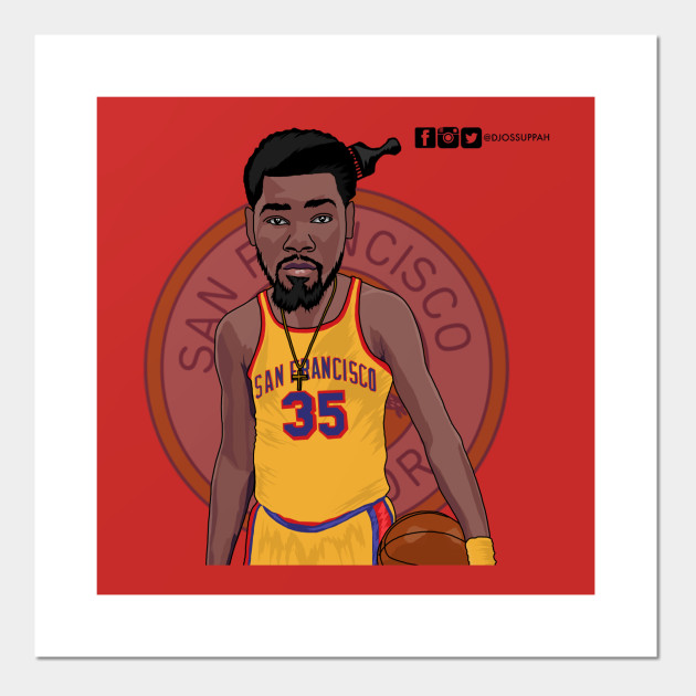 a947ac69040 Vector drawing of Kevin Durant San Fran Warriors - Golden State ...