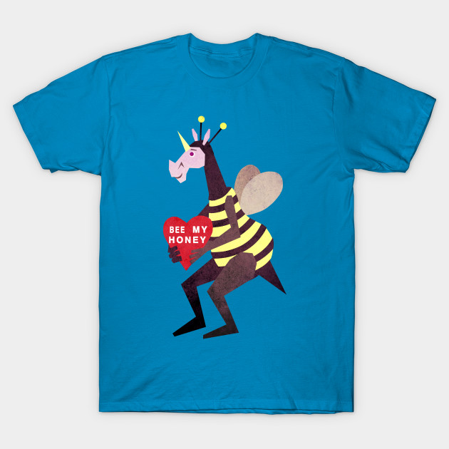 Bee My Honey Unicorn Valentines Day T Shirt Teepublic