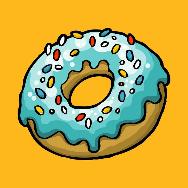 Blue doughnut