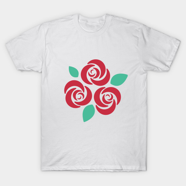 Red XNovaOnyx| Rose Simple Design T-Shirt