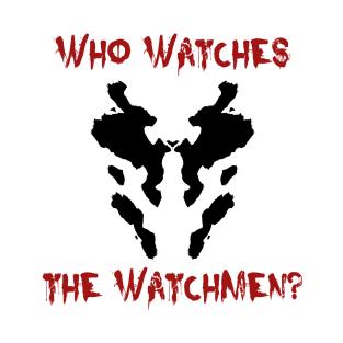 Who watches the watchmen? Watchmen Rorschach t-shirts