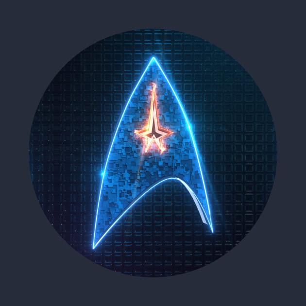 star trek emblem startrek logo t shirt teepublic