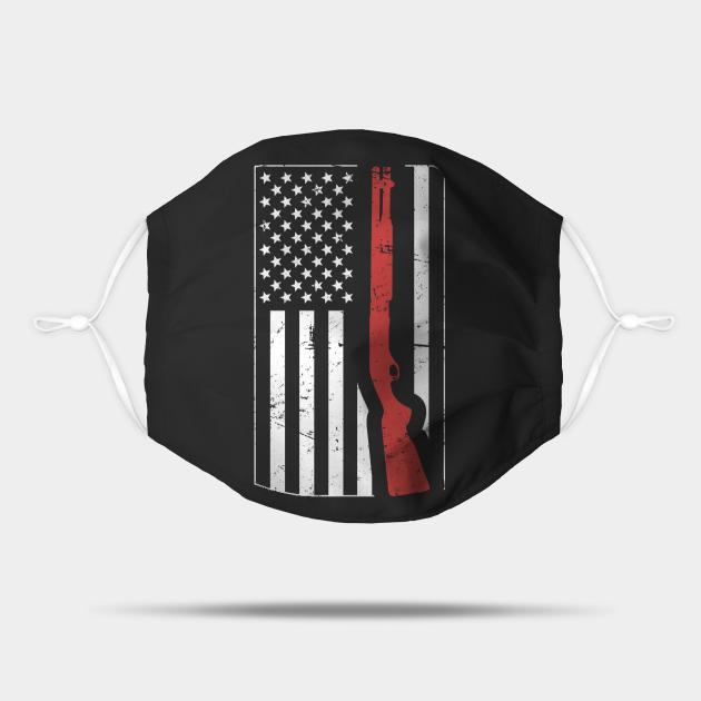 American Flag & Shotgun | Skeet Shooting