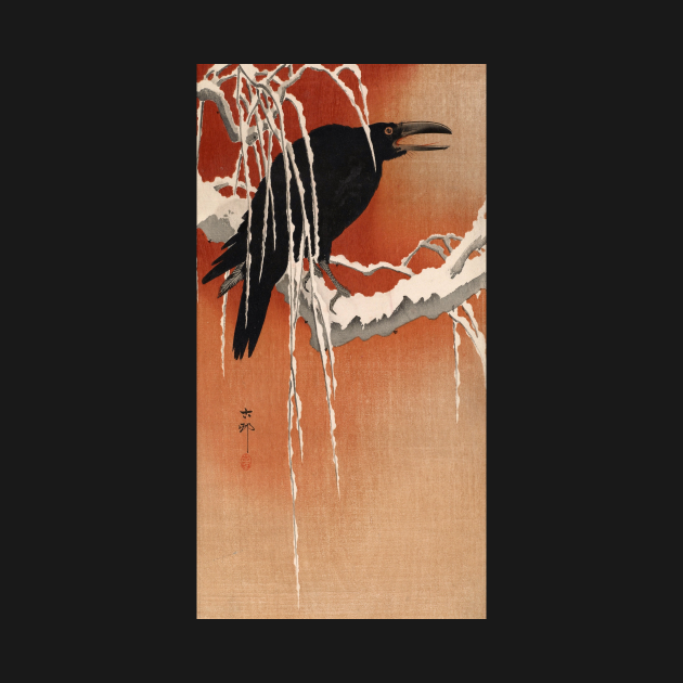 Crow by Ohara Koson