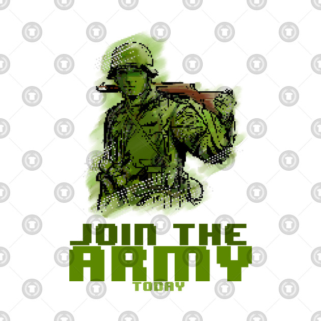 Join the Army 8bit PixelArt