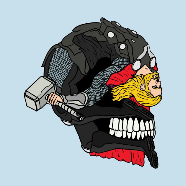 Odinson Bent Back Skull