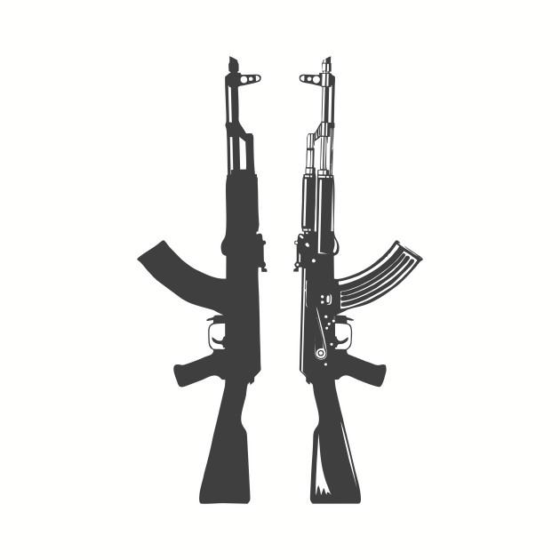 AK 47 Kalashnikov Gun Shirt
