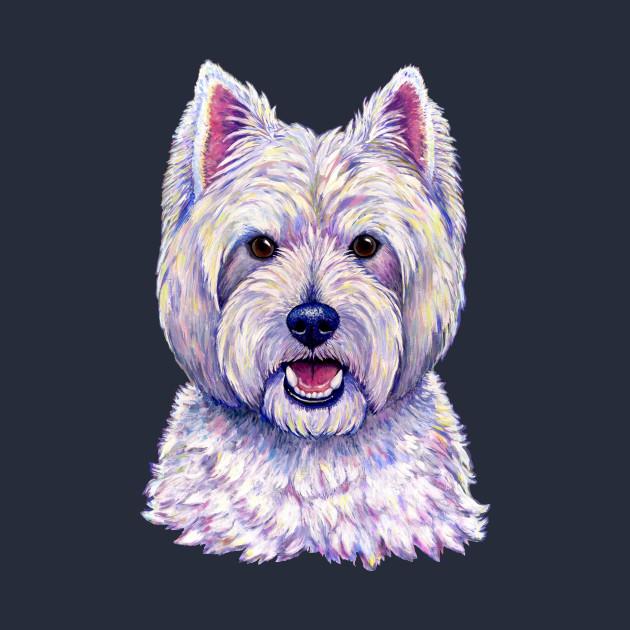 Little White Westie Dogs West Highland Terrier 100/% Cotton Fabric