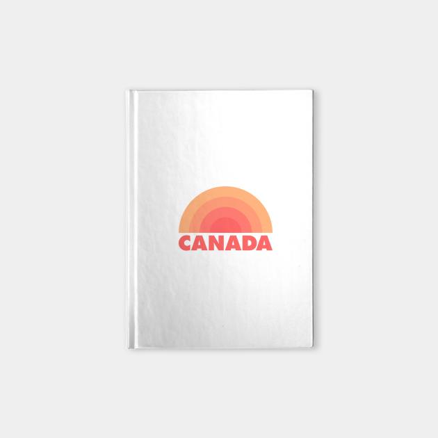 Canada Retro Rainbow Badge Orange