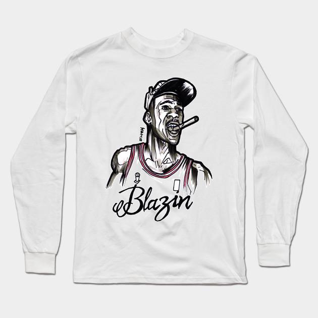 ce34d4fe9746 Michael Air Jordan Blazin - Michael Jordan - Long Sleeve T-Shirt ...