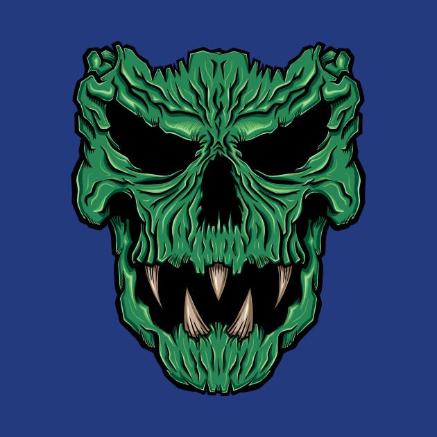 Skeleton Dab Halloween Skull Scary Costume Spooky T-shirt Female Black Green