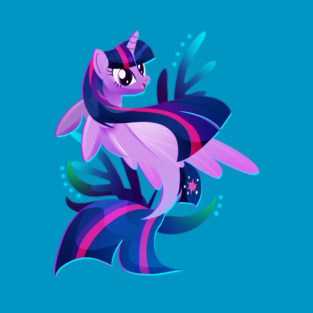 Seapony Twilight Sparkle My Little Pony T Shirt