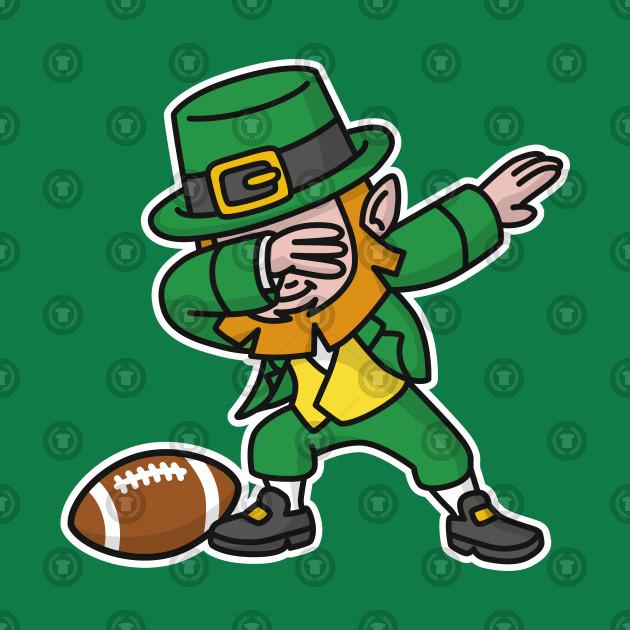 Dab dabbing leprechaun St. Patrick's day rugby