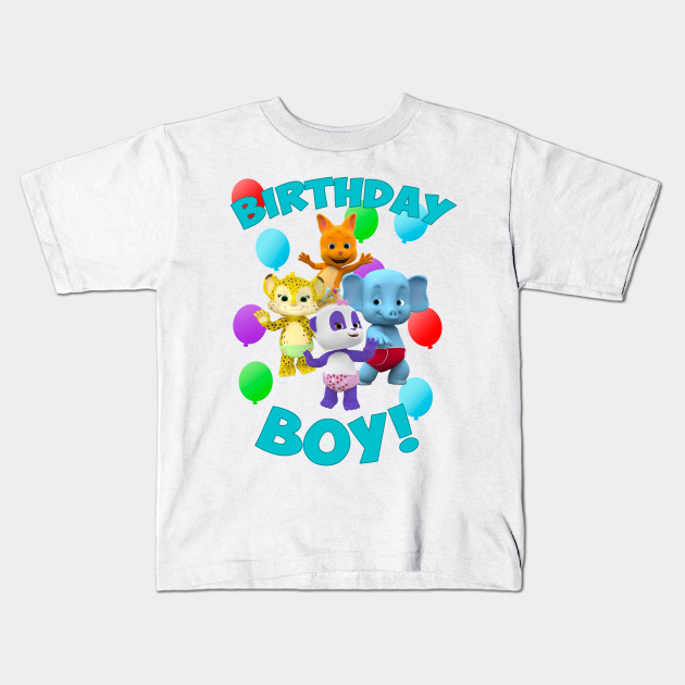 Word Party Birthday Kids T Shirt