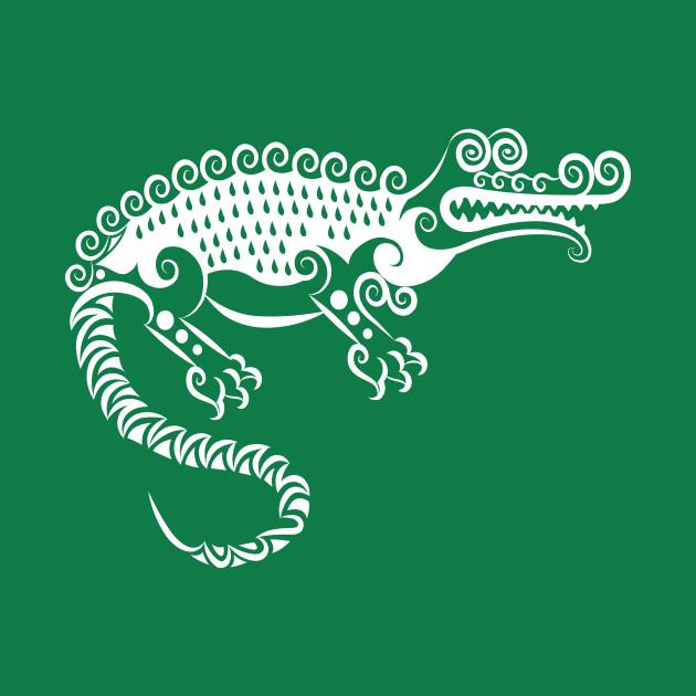 Crocodile curl ornament