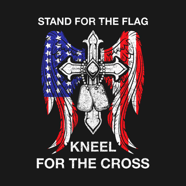 Stand for the flag Kneel for the cross sweatshirt 81wES
